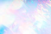 Colorful futuristic funky fantasy abstract holographic background.