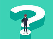 Choice process flat vector illustration. Direction choose options, solution, decision. Abstract confuse concept.