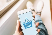 Mobile shopping on a smartphone