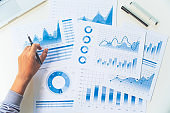 businessman working data document graph chart report marketing research development  planning management strategy analysis financial accounting. Business  office concept.