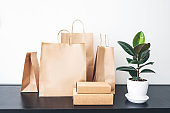 Craft paper bags.