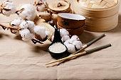 Traditional asian kitchen utensils