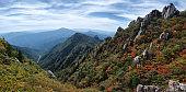 Rocky Peaks in Seorak Mountain, South Korea (Seoraksan) during Autumn