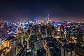 shanghai city night view