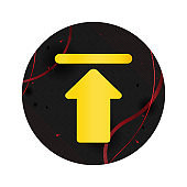 Upload icon elegant black round button