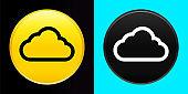 Cloud icon flat exclusive button set