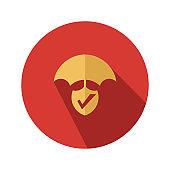 life insurance flat vector icon - ui icon vector