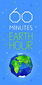 60 minutes Earth hour banner