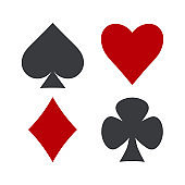 Suit of playing cards. Vector illustration.