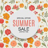 poster. Summer Sale concept Background. Vector Illustration