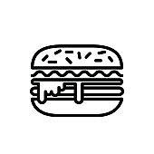 Illustration Vector graphic of burger icon