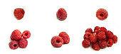Fresh raspberries on a white background. Summer, sweet berry