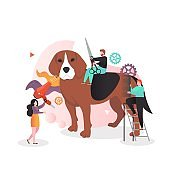 Animal care vector concept for web banner, website page
