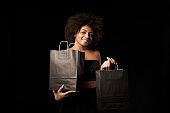 Black Friday sale, gift, present, celebration concept.