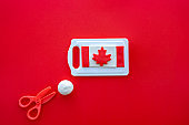 Canada Flag is made of play dough for Canada Day. July 1 Independence Day Canada craft idea for kids. Creative modeling clay ideas