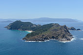 aerial view of a beautiful island seascape