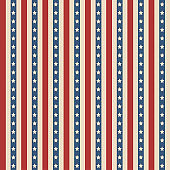 American stars and stripes pattern