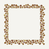 Blank square coffee beans frame