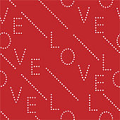 """Typo made from polka dot """"LOVE"""" seamless pattern vector on EPS10 valentine mood ,Design for fashion ,fabric,web,wallpaper,wrapping and all prints"""