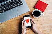 Modern communication and declaration of love through communication.