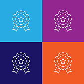 medal reward outline icon. Elements of independence day illustration icon
