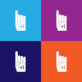 American football fan glove color icons. Element of popular american football color icons. Signs, symbols collection icons for websites, web design,