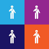 soldier, military, wounded pictogram icon. Signs and symbols can be used for web, logo, mobile app, UI, UX