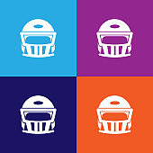 helmet for american football color icons. Element of popular american football color icons. Signs, symbols collection icons for websites, web design,