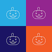 pumpkin halloween fear outline icon. Elements of independence day illustration icon