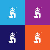 war, action, soldier, gun man pictogram icon. Signs and symbols can be used for web, logo, mobile app, UI, UX