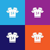 uniform for american football color icons. Element of popular american football color icons. Signs, symbols collection icons for websites, web design,