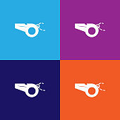 whistle color icons. Element of popular american football color icons. Premium quality graphic design. Signs, symbols collection icons for websites, web design,
