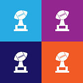 American Football Cup color icons. Element of popular american football color icons. Signs, symbols collection icons for websites, web design,