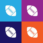 american football color icons. Element of popular american football color icons. Signs, symbols collection icons for websites, web design,