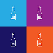 champagne of the winner icon. Element of racing for mobile concept and web apps icon. Thin line icon for website design and development, app development. Premium icon on colored background