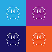 racer cap icon. Element of racing for mobile concept and web apps icon. Thin line icon for website design and development, app development. Premium icon on colored background