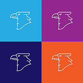 eagle bird outline icon. Elements of independence day illustration icon