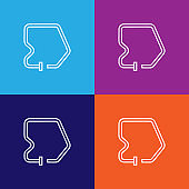 race track icon. Element of racing for mobile concept and web apps icon. Thin line icon for website design and development, app development. Premium icon on colored background