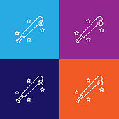 baseball sport outline icon. Elements of independence day illustration icon