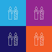 candles birthday outline icon. Elements of independence day illustration icon