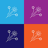 firework rocket outline icon. Elements of independence day illustration icon