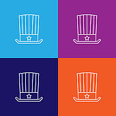 hat flag usa outline icon. Elements of independence day illustration icon
