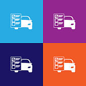 car service list outline icon. Elements of car repair illustration icon. Signs and symbols can be used for web, logo, mobile app, UI, UX
