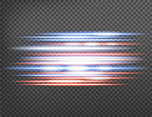Horizontal lens flares pack. Laser beams, horizontal light rays isolated on transparent background. Vector illustration.
