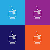 hand cheerleader outline icon. Elements of independence day illustration icon
