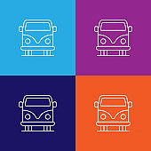 vehicle car outline icon. Elements of independence day illustration icon