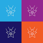 star prize winner outline icon. Elements of independence day illustration icon