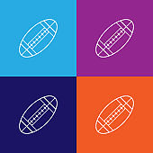 american football sport outline icon. Elements of independence day illustration icon