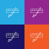 hockey sport winter outline icon. Elements of independence day illustration icon