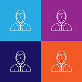 men president history outline icon. Elements of independence day illustration icon